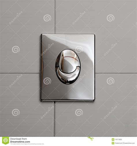 economic toilet flush knob stock photography image 14111832