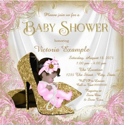 glitter baby girl shower invitation sle invitations