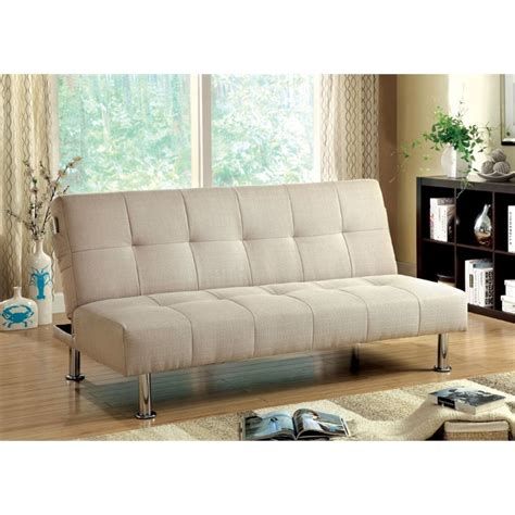 ivory sofa bed furniture of america hallas linen sleeper sofa bed in
