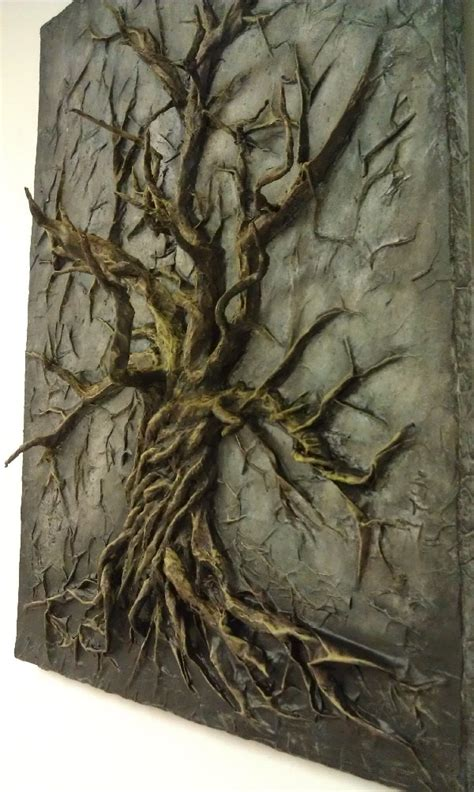 baum cycles paintings vicious cycle 18x24 3d acrylic painting tree made of