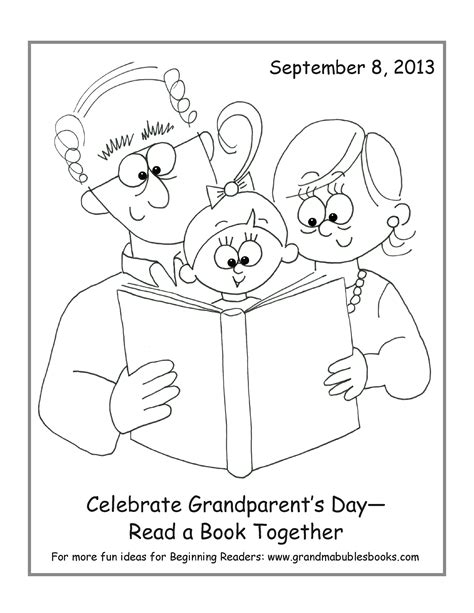 coloring pages for grandparents day freebies stuff bubbles books
