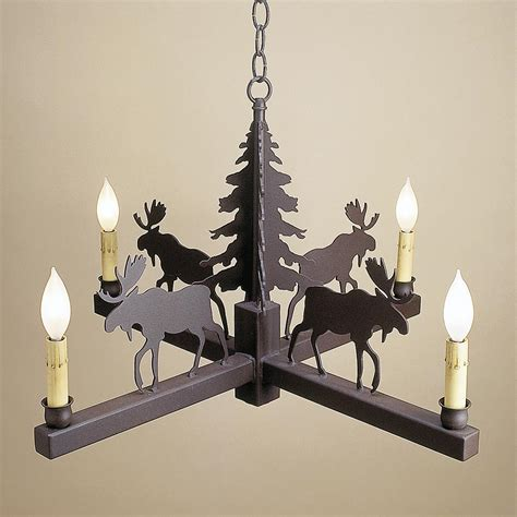 Cabin Chandelier 4 Leg Candle Style Chandelier Cabin Place