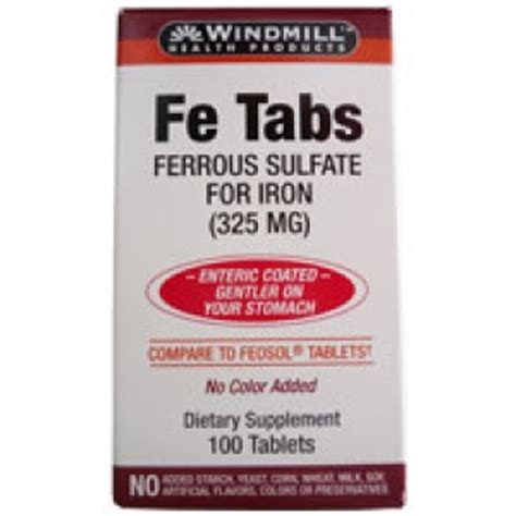 Iron Supplement Stool by Windmill Ferrous Sulfate 325 Mg Dietary Supplement Tablets