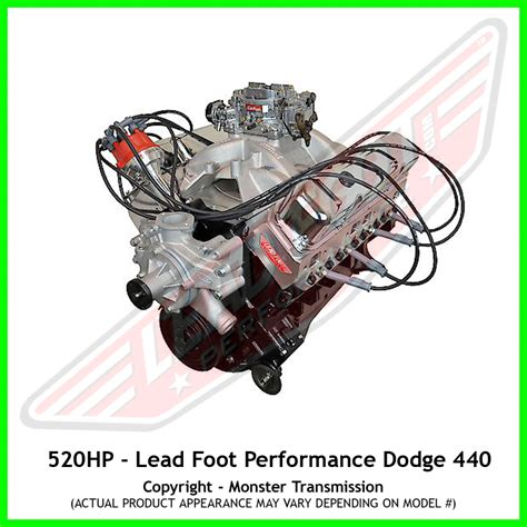chrysler 440 crate engine lead foot performance new modified dodge big block 440