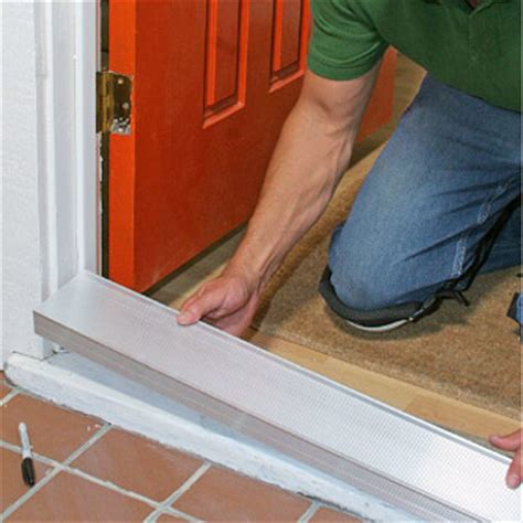 How To Replace A Threshold On An Exterior Door Aluminum Door Replacing Aluminum Door Threshold