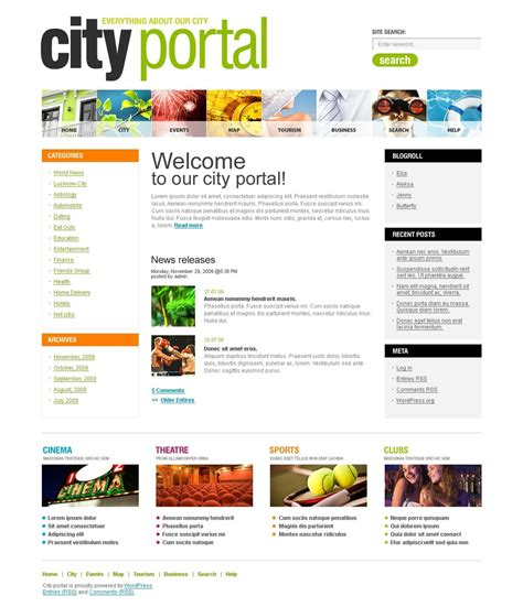portal templates city portal theme 27256