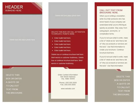 microsoft office word brochure templates free tri fold brochure templates for word best agenda