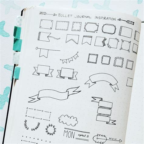 journal with design 43 best images about bullet journal borders on pinterest