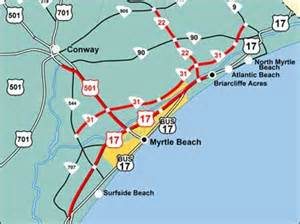 us map myrtle sc map of myrtle area with detail pictures to pin on