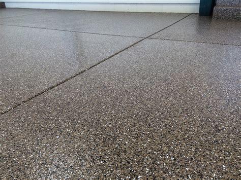 3 car garage platinum granite epoxy coating