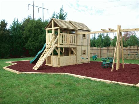 backyard play fort backyard playground hand crafted wooden playsets