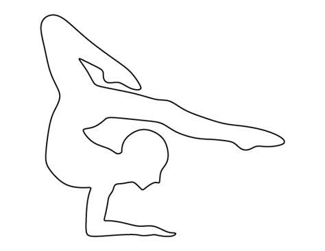 Printable Gymnastics Stencils | gymnast pattern use the printable outline for crafts