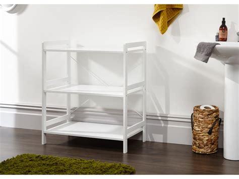 bergen style  wide modern white  tier open shelf unit