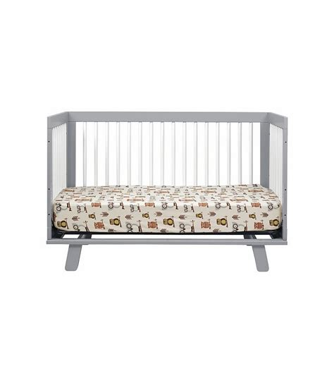 Babyletto Hudson 3 In 1 Convertible Crib With Toddler Rail Babyletto Hudson 3 In 1 Convertible Crib With Toddler Bed Conversion Kit In Grey White
