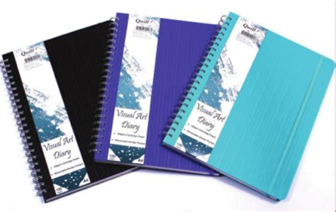 quill a4 sketchbook premium visual diary quill 125gsm 120 pages a3 aqua 132287