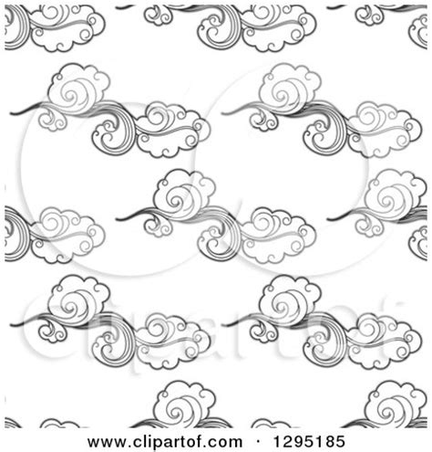 pattern of small white clouds crossword clipart of a seamless background pattern of black and