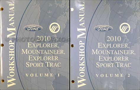 automotive repair manual 2010 ford explorer sport trac regenerative braking 2010 ford explorer and sport trac mercury mountaineer repair shop manual set