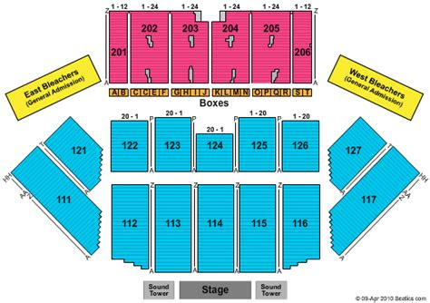 champlain valley expo seating chart