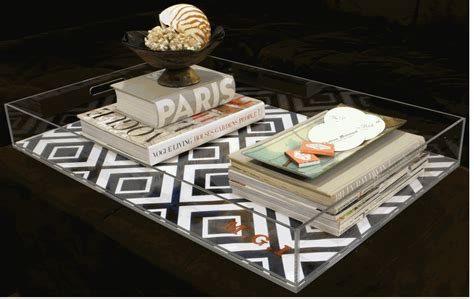 acrylic ottoman tray azzure the useful and stylish tray