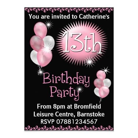 invitation ideas for 13th birthday 29 best images about 13th birthday invitations on 13th birthday