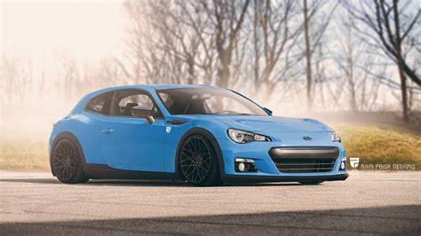 blue subaru hatchback 7 crazy station wagon renders based on sports cars gtspirit