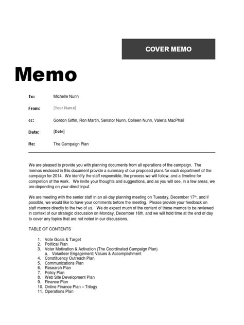 Sle Memo Keeping Office Kitchen Clean 2014 Nunn Caign Memo