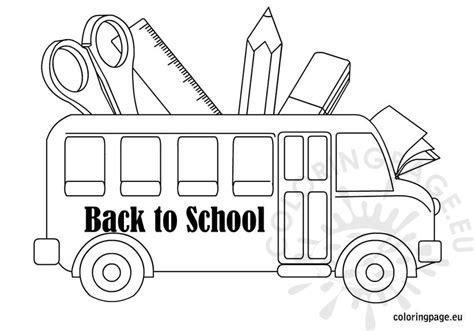 Back To School Coloring School Bus Back To School Coloring Page