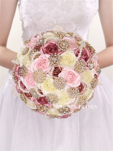 ready made bridal bouquets blush ready to ship bouquet brooch bouquet vintage