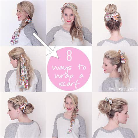 ways to wear long hair after 50 8 ways to wrap a head scarf twist me pretty