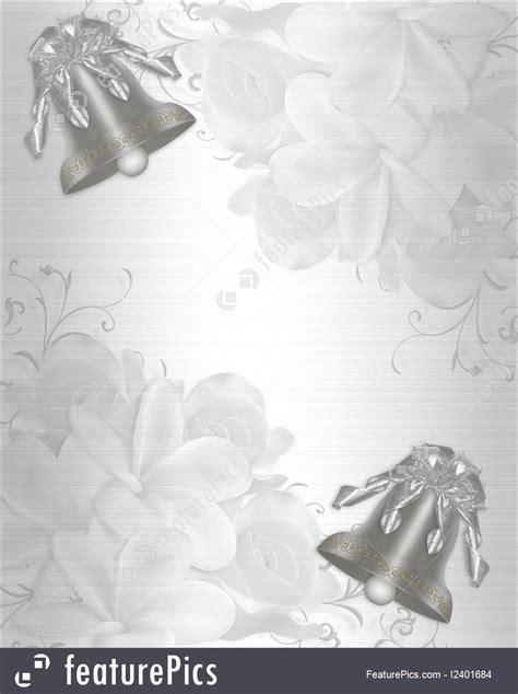 Wedding Background Silver by Wedding Invitation Satin Silver Bells Stock