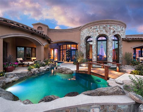 remarkable home overlooking a golf course in arizona where