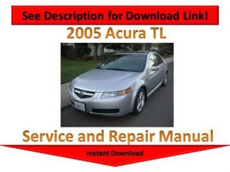 2005 acura tl repair manual youtube