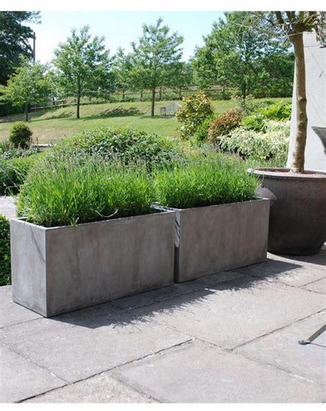 Lightweight Concrete Planters by Venice Lightweight Concrete Trough Iota Designer Planters