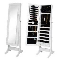 btexpertstylish wooden jewelry armoire cabinet stand