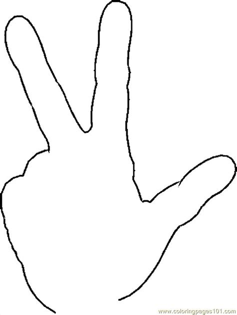 hand thumb up coloring pages