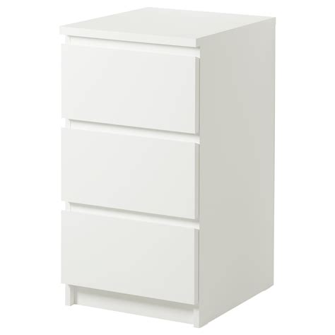 malm chest of 3 drawers white 40x78 cm ikea - Kommode Tiefe 60