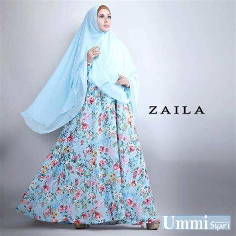 Dress Syari Soft Maxmara Arina zaila soft blue baju muslim gamis modern