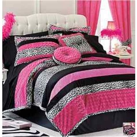 pink and black comforters pink black leopard teen full queen comforter shams