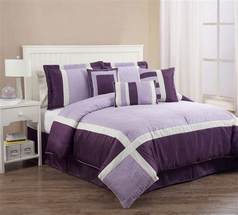 7pcs queen blaine purple and lilac comforter set ebay