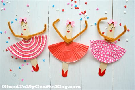 kid crafts popsicle stick ballerinas kid craft glued to my crafts