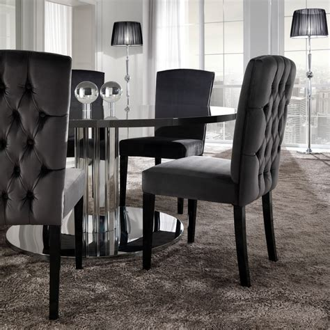 Dining Table Chairs Uk Italian Modern Designer Chrome Dining Table Juliettes Interiors