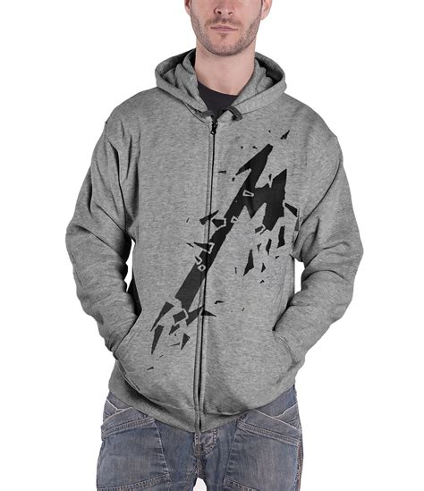 Zipper Hoodie Metalica 2 Hitam metallica hoodie hardwired master of puppets band logo new official mens ebay
