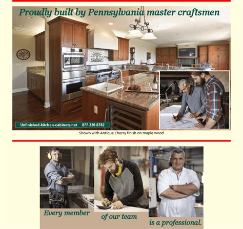 Unfinished Kitchen Cabinets Pa by Unfinished Wood Kitchen Cabinets For Sale Cherry