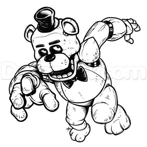 how to draw five nights at freddy s learn to draw fnaf books how to draw freddy fazbear five nights at freddys step