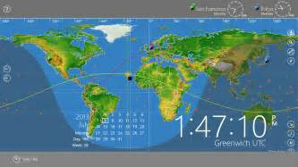 World Clock Map by World Astro Clock Light For Windows 8 Download Softpedia
