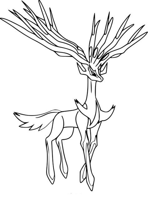 pokemon xerneas and yveltal coloring pages coloring pages coloriage xerneas pokemon 224 imprimer