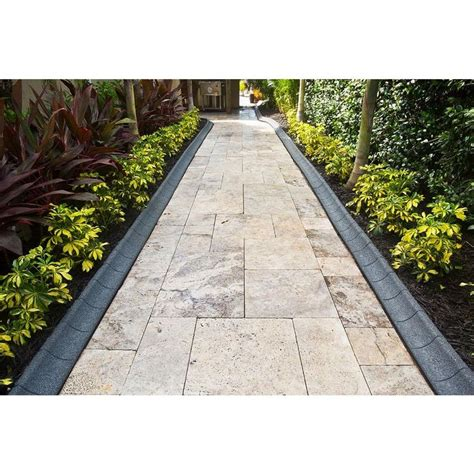 ecoborder  ft grey rubber curb landscape edging