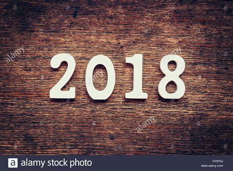 new year 2018 number wooden numbers forming the number 2018 for the new year