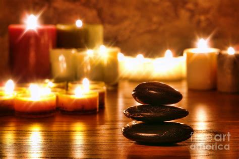 Relaxation Technique Lumiere Candle Co by Stones Cairn And Candles Photograph By Olivier Le Queinec
