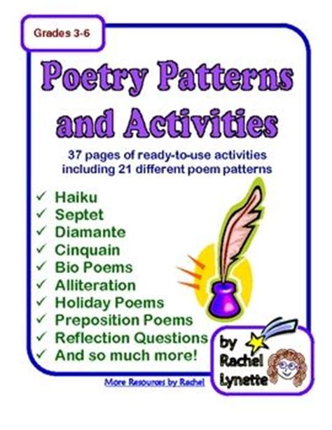 pattern poem exles poetry writing unit 21 poem pattern printables with